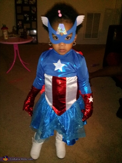 Ms. Captain America Baby Costume