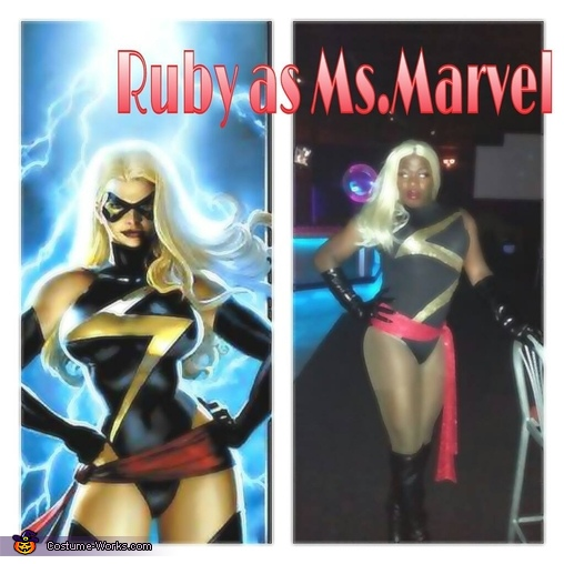 ms marvel comic pic and me aka Addias as Ms.Marvel, Ms. Marvel Costume