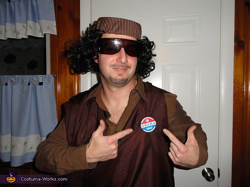 Muammar Gaddafi Costume - Homemade costumes for men