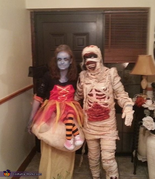 Mummified Homemade Costume