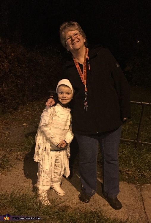 Trick or treating, Mummy Boy Costume