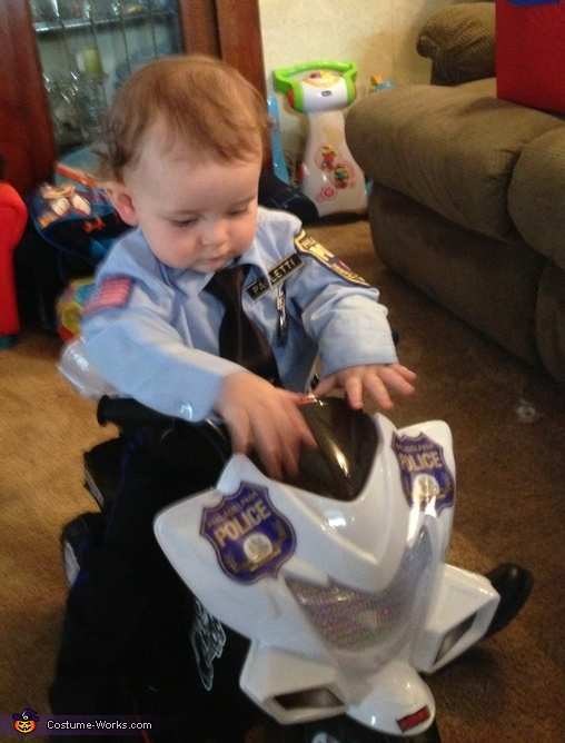 First patrol motorcycle, My First Arrest: Police Officer & Prisoners Family Costume