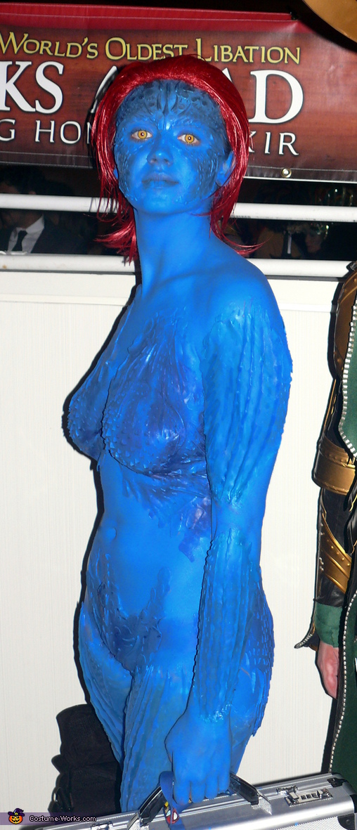 Flash is never flattering. :P, DIY Mystique Costume