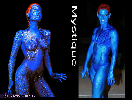 Comparison of the real character and Me!!!, Mystique Costume