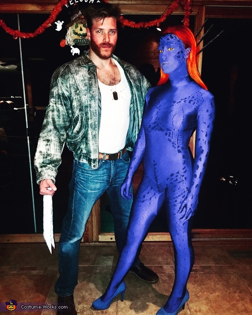 Mystique and Wolverine from X-Men, Mystique from X-Men Costume