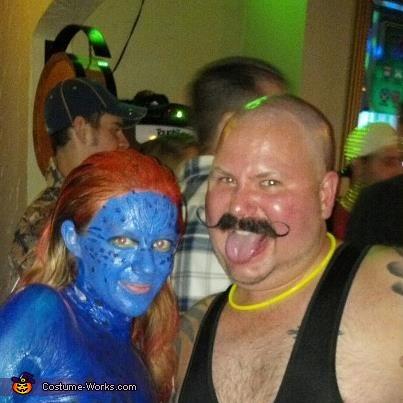 Mystique from X-Men Homemade Halloween Costume