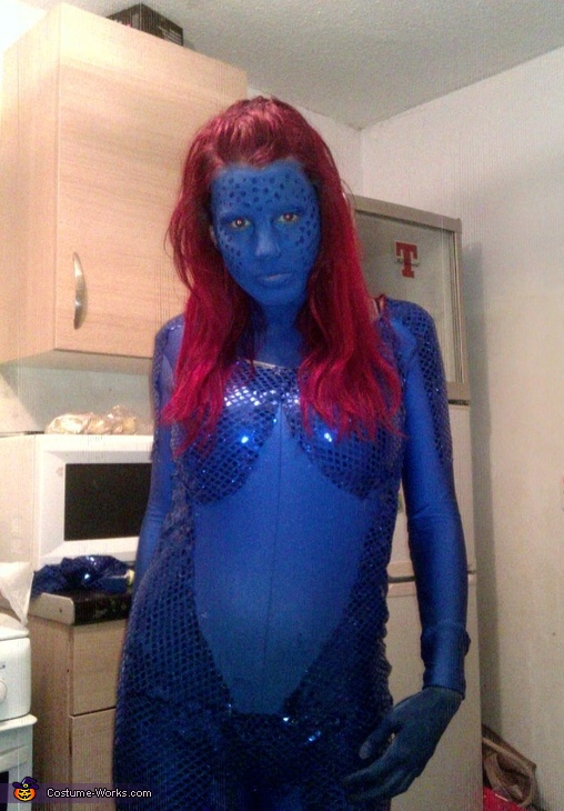 Practise run without contacts , Mystique X-Men Costume