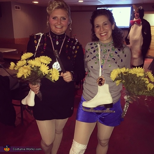 Nancy Kerrigan and Tonya Harding Homemade Costume