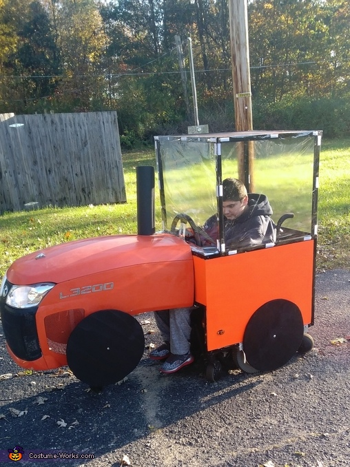 Nathaniel's Tractor Costume
