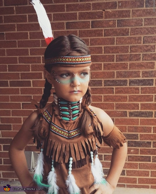 Native American Girl's Homemade Costume