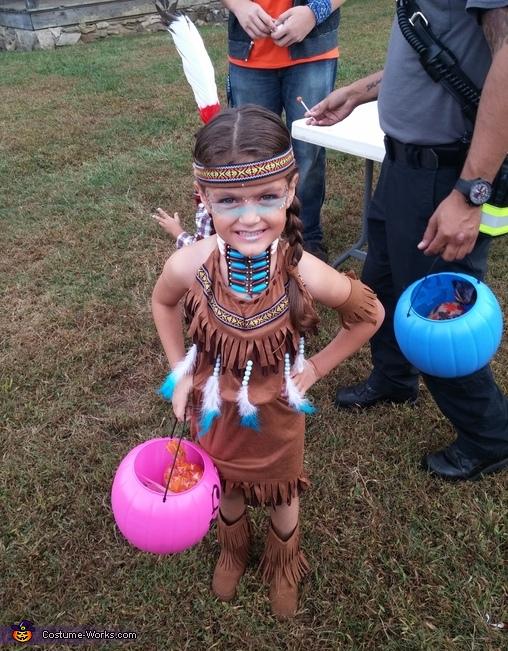 Native American Girl's Homemade Costume