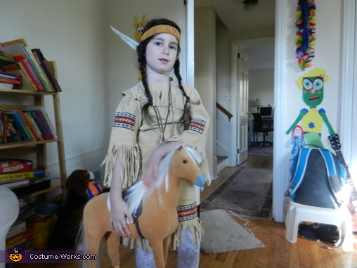 Native American Maiden with her Horse, Native American Maiden Costume