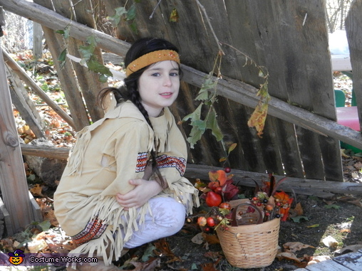Native American Maiden in Long House, Native American Maiden Costume