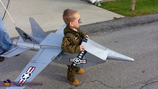 Requesting a fly-by., Brandon's Navy Jet Costume