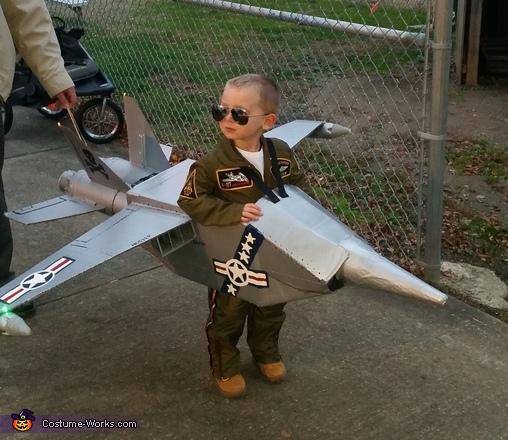 Brandon's Navy Jet Costume