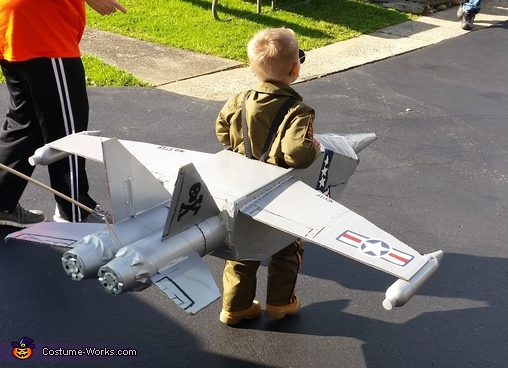 The need for speed!, Brandon's Navy Jet Costume