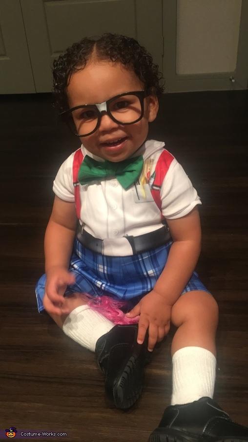 DIY Nerd Baby Costume