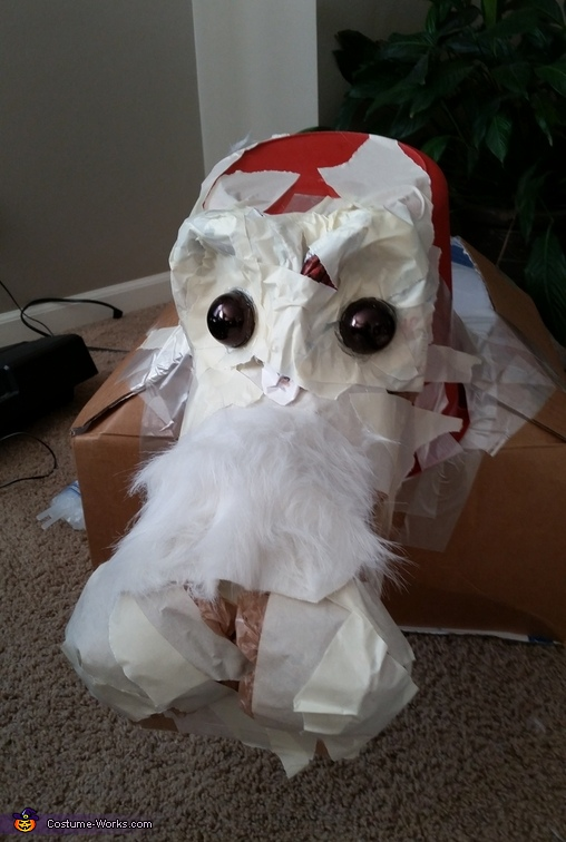 Falkor getting some eyes and fur, Neverending Story Costume