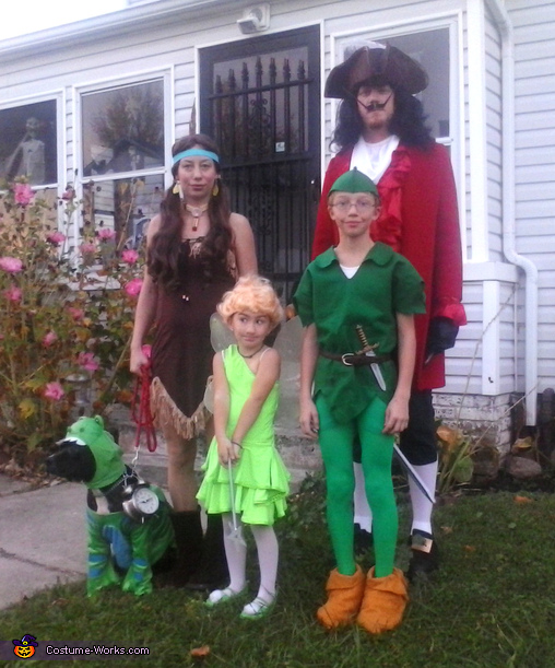Neverland Characters Family Costume