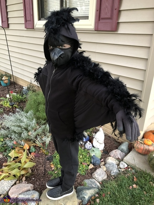 Wings and hood, Nevermore: Edgar Allen Poe and the Raven Costume