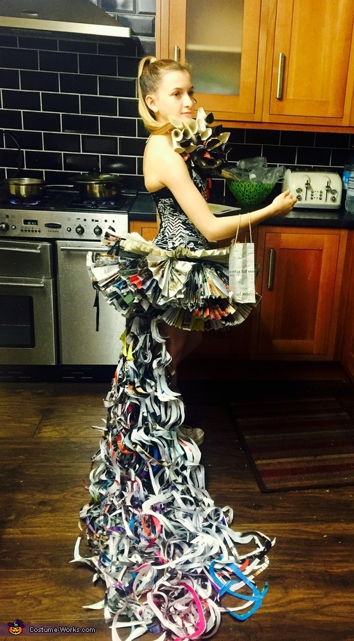Newspapers Dress Homemade Costume