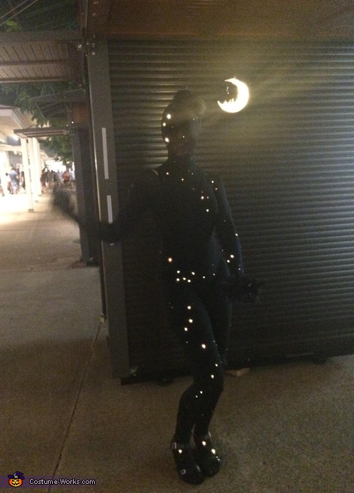 Disappearing into the night, Night Sky Costume