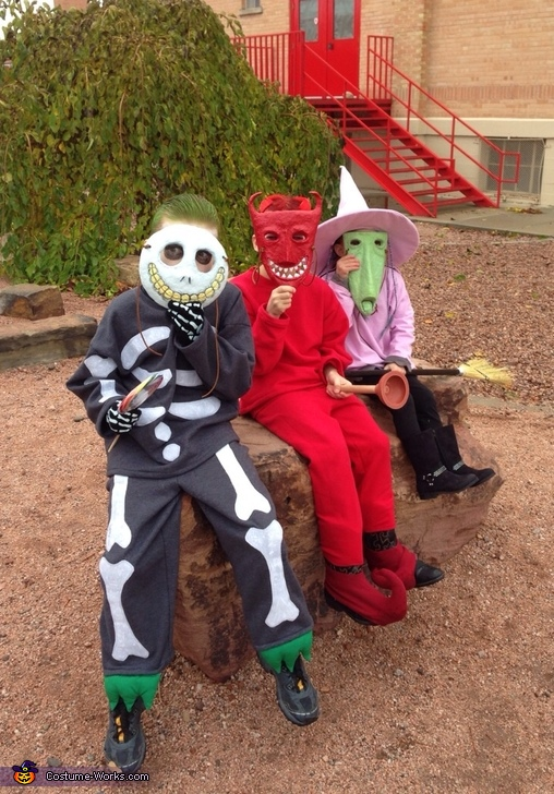 Lock, Shock, Barrel, Nightmare Before Christmas Family Costumes