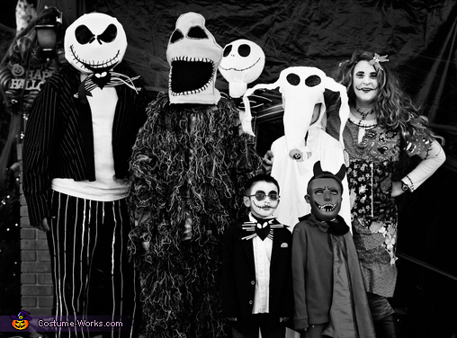 Happy Halloween from our family to yours!, Nightmare Before Christmas Family Costume
