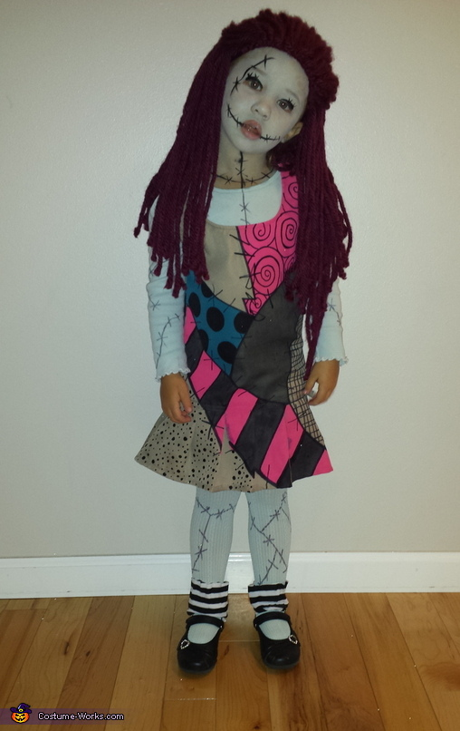 She gets into character for me! , Nightmare Before Christmas Sally Costume