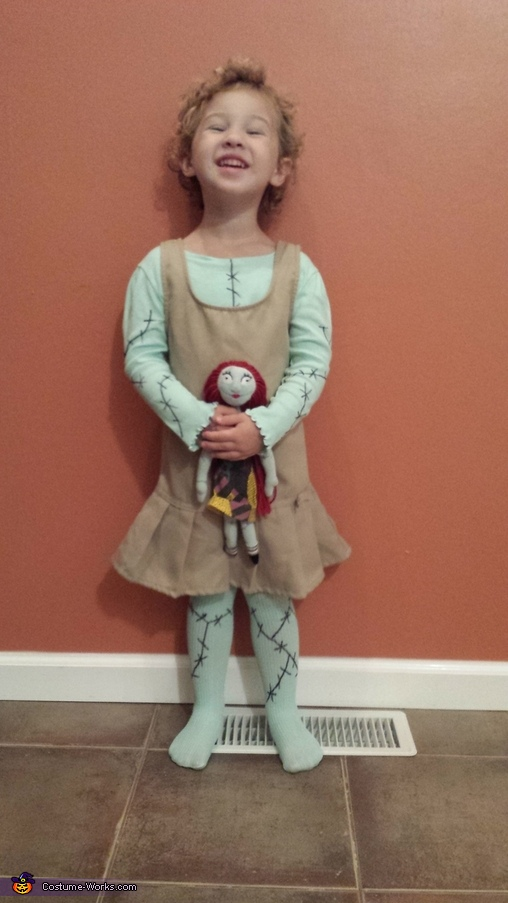 beginning stages of costume, Nightmare Before Christmas Sally Costume