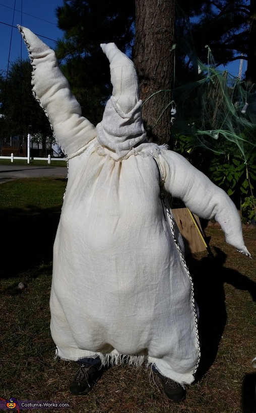 Oogie Boogie before the paint., Nightmare Before Trick r Treat Costume