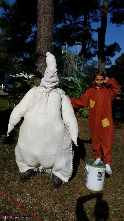 Ian and Oogie not quite finished., Nightmare Before Trick r Treat Costume