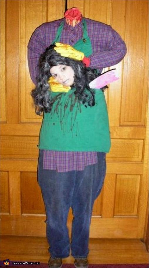 Headless Girl Halloween Costume