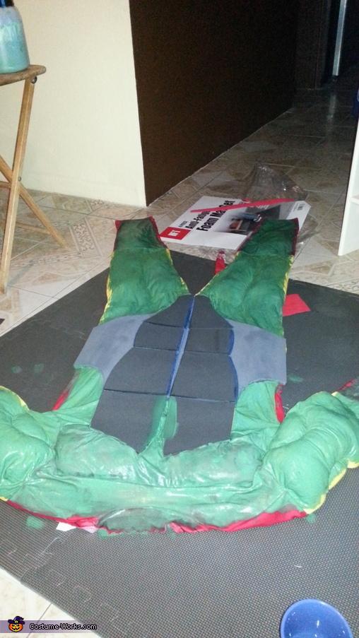 the start of the suit , Ninja Turtle Costume