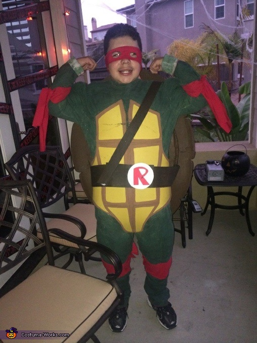 without face paint, Ninja Turtle Costume