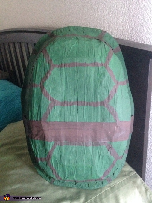 The shell of the costume , Ninja Turtle Michelangelo Costume