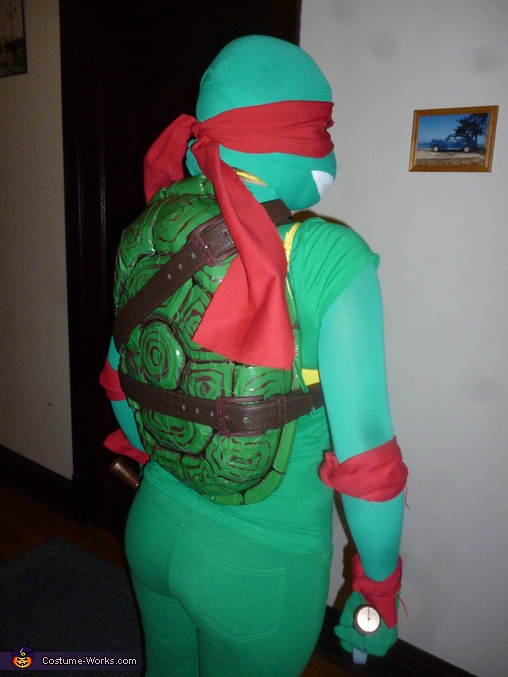 Ninja Turtle Raphael Homemade Costume & Ninja Turtle Raphael Halloween Costume - Photo 2/5