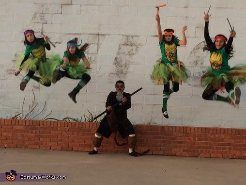 TURTLE POWER, Ninja Turtles and Splinter Group Costume