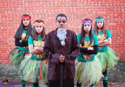 TMNT and Splinter, Ninja Turtles and Splinter Group Costume