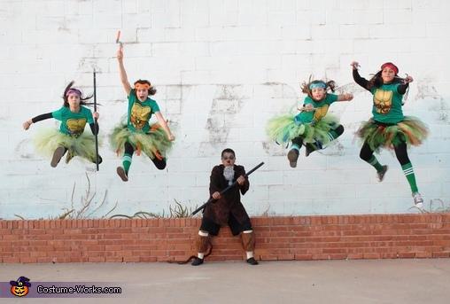 Ninja Turtles and Splinter Homemade Costume