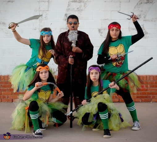 Ninja Turtles and Splinter Group Costume