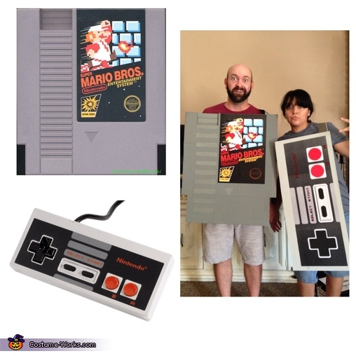 Game cartridge and controller, Nintendo Family Costume