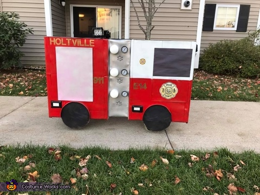 Left Side, Noah's Firetruck Costume