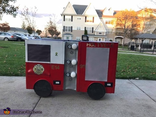 Right Side, Noah's Firetruck Costume