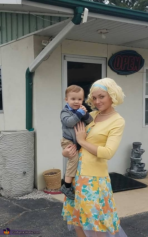 Norma and Norman Bates Homemade Costume