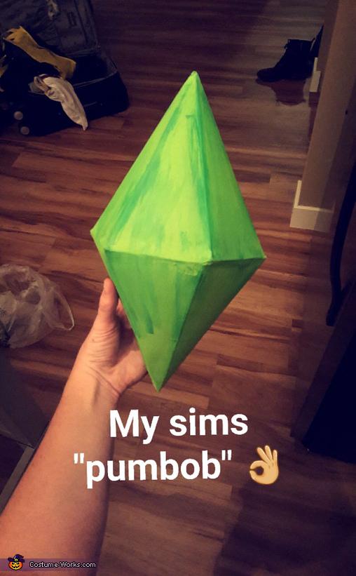 Sims Plumbob, Nude Sims Costume