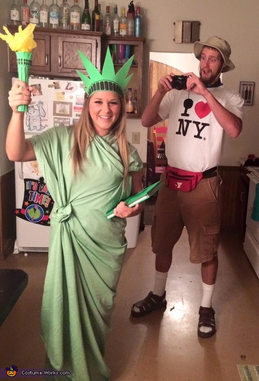 NYC Tourist and Statue of Liberty Costume