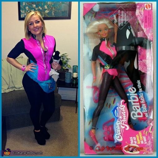 This picture is to show you the similarity of the costume, Ocean Friends Barbie Costume