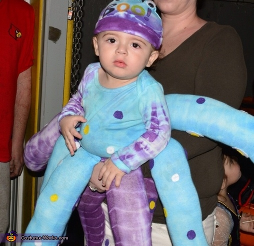 Homemade Octopus Baby Costume