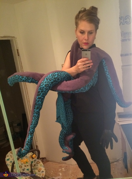 Trying on Costume, Octopus Baby Costume